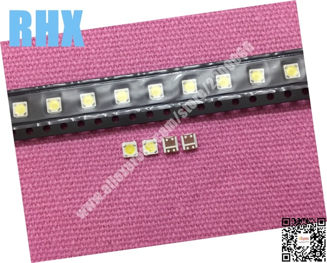 260 unid/lote 100% nuevo para reparación de retroiluminación de LED de lúmenes 2,4 W 3V 3535 3537 blanco retroiluminación LCD blanco frío
