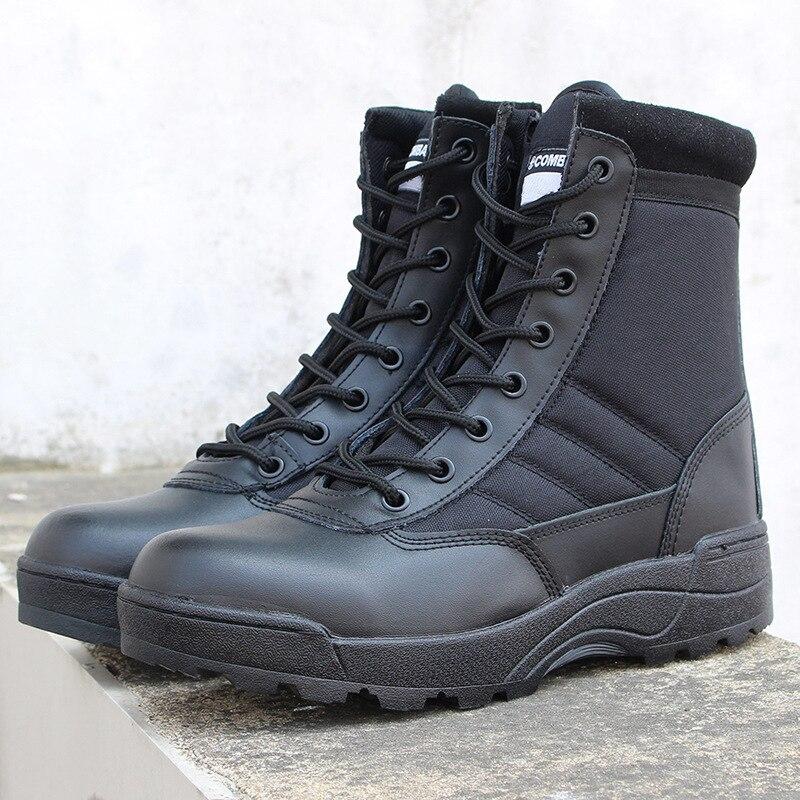 Armée tactique Fans escalade en plein air randonnée Camping bottes militaire haut Tube désert alpinisme hommes femmes chaussures antidérapantes