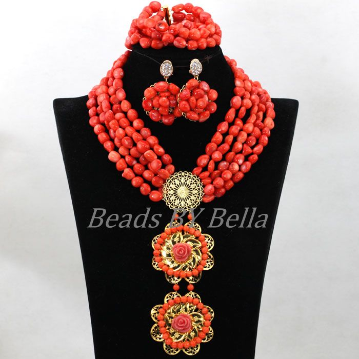 Latest Real Coral Bead African Nigerian Wedding Bridal Beads ...