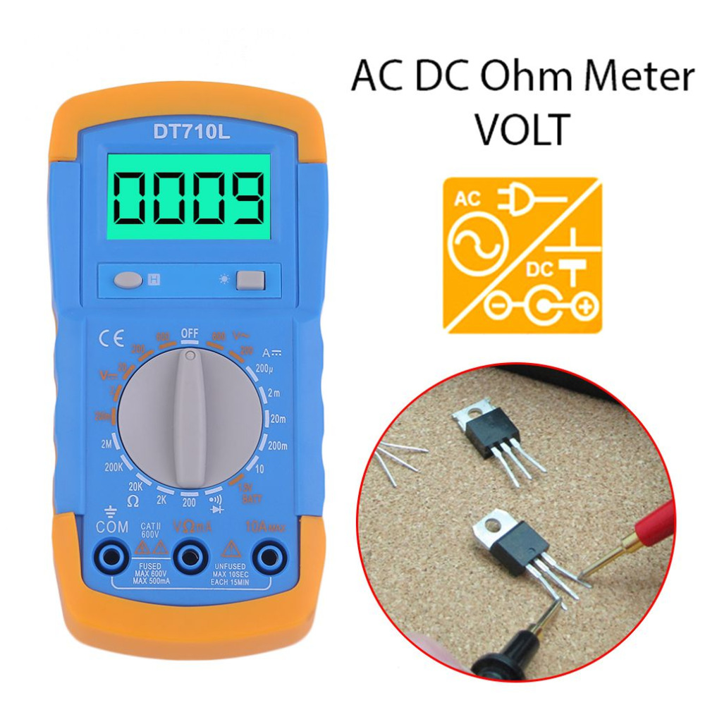 Dt710l small digital multimeter with backlight battery testdiode dt710l small digital multimeter with backlight battery testdiode test continuity buzzerdata hold multifunctional multimeter in multimeters from tools on buycottarizona Choice Image
