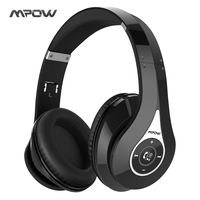 Mpow Bluetooth Headphones Noise Cancelling Wireless Over Ear Stereo Foldable Headphone Ergonomic Design EarmuffsBuilt In Mic