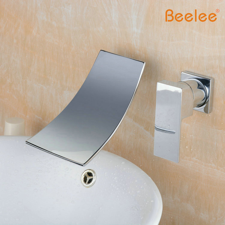 Beelee BL6015C Bathtub Wall Mounted Bathroom Sink Faucet Solid Brass ...