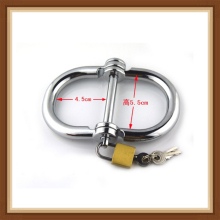 цены Free Shipping metal bondage metal handcuffs Stainless Steel HandCuffs Sex toys Metal silver color Sexy fetish erotic toys