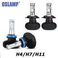 H4/H7/H11 LED Car Headlight Bulb Single/Hi-Lo Beam CSP Chips Auto Led Headlamp Fog Light Bulbs 8000LM Cold White 6500K 12v 24v