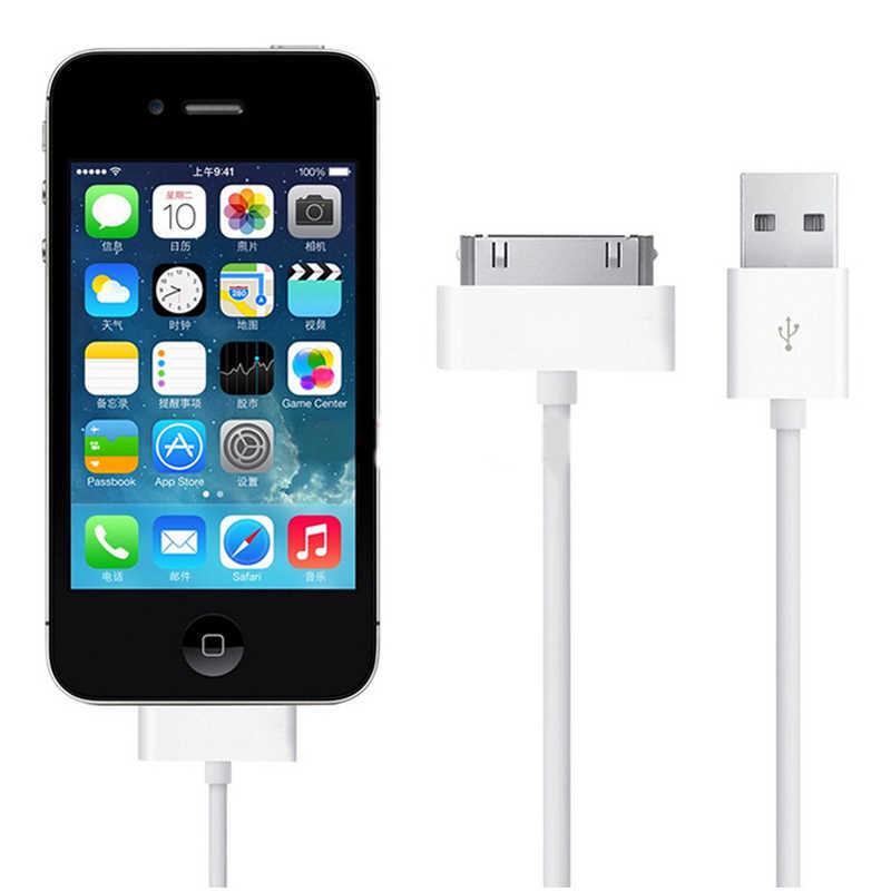 USB Veri şarj aleti kablosu iPhone 4 4 s için iPod Nano iPad 2 3 iPhone 30 Pin kablo USB 1 m şarj kablosu chargeur Telefonu Aksesuarları