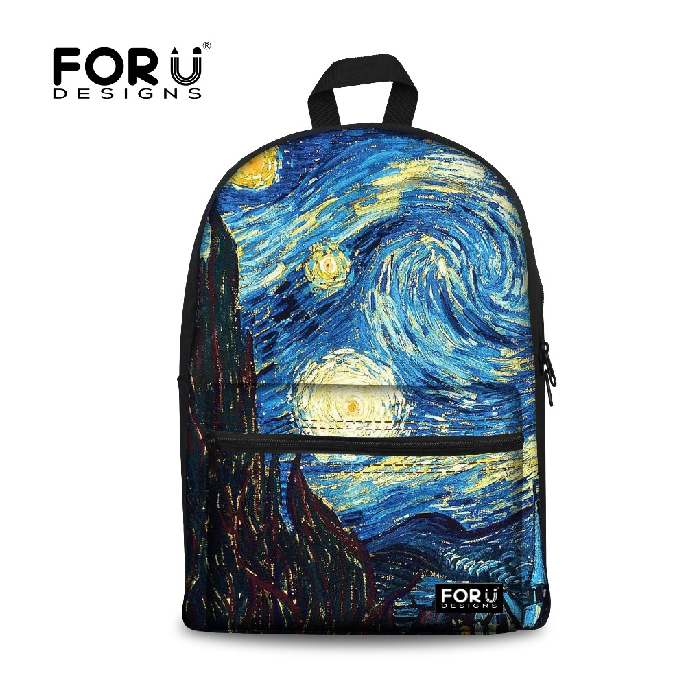 New 2017 Women Backpack Painting School Bags for Teenagers Girls Stylish Children Bagpack Ladies Travel Bag Student Kids Mochila 16 inch anime game of thrones backpack for teenagers boys girls school bags women men travel bag children school backpacks gift