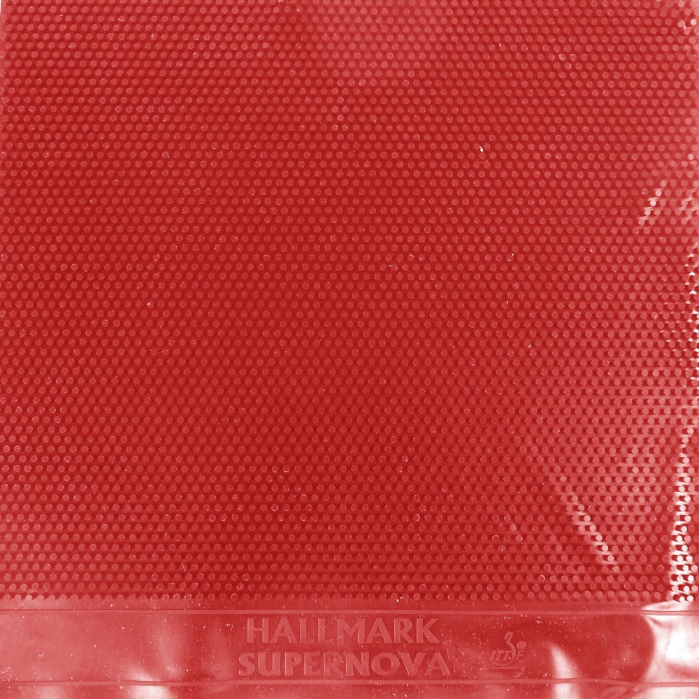 HALLMARK Supernova (No ITTF) Long Pips-Out Table Tennis Red Rubber Without Sponge (Topsheet, OX)