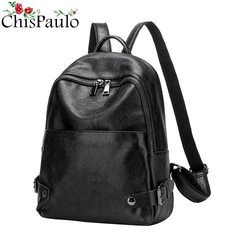 Women Genuine Leather Ladies Backpack high quality shoulder bags backpacks for teenage girls Preppy Style Travel