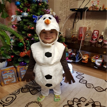 Deluxe Plush Adorable Child Halloween Cosplay Costume For Toddler Kids Favorite Cartoon Movie Snowman Party Dress up
