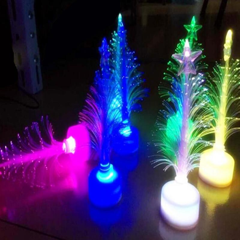 Christmas Tree 7 color Changing Colorful Fiber Optic Nightlight Christmas Tree PartyIndoorHolidayChristmas Decor (2)
