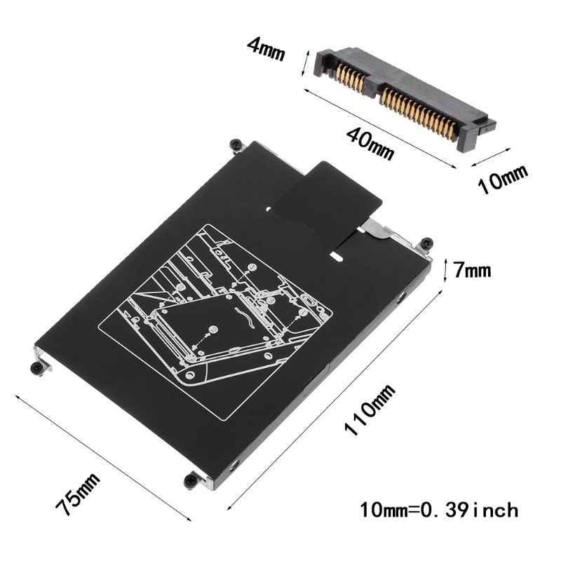 1 zestaw adapter hdd caddy dysk twardy interfejs uchwyt złącze kabla SSD Laptop akcesoria śruba do HP 820 G1 G2 Jy23 19