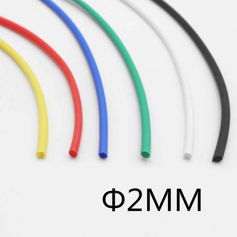 (1 metro/lote) 2MM de Diâmetro Interno cor Branca Heat Shrinkable Tubo/Heat Shrink Tubing mangas cabo