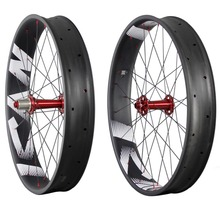 Carbon fat bike 26er carbon wheels 90mm width tubeless ready carbon snow bike wheelseet with logos 197/190X12 135x15 150x15 FW90 biggest and strongest carbon ruedas mtb 26er fat bike clincher rim 100mm width 25mm depth wide bicycle wheel tubeless compatible