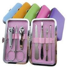 Nail Care 7 Piece Cutter Cuticle Clipper Manicure Pedicure Kit Case Gift Set A2
