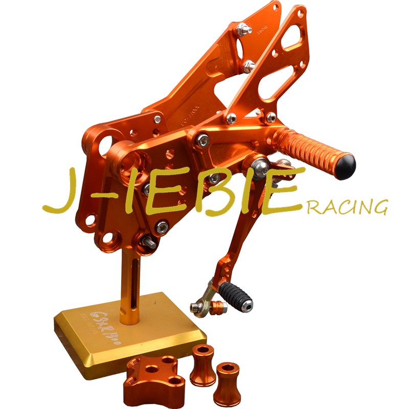 CNC Racing Rearset Adjustable Rear Sets Foot pegs Fit For KTM DUKE 125 200 390 2012 2013 2014 2015 2016 ORANGE for 2012 2015 ktm 125 200 390 duke motorcycle rear passenger seat cover cowl 11 12 13 14 15