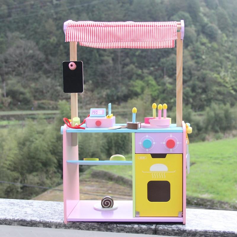 Новый Игрушки для маленьких детей моделирование хлебобулочные Торт деревянный дом Игрушечные лошадки Еда Cut Соберите столовой ребенка раз
