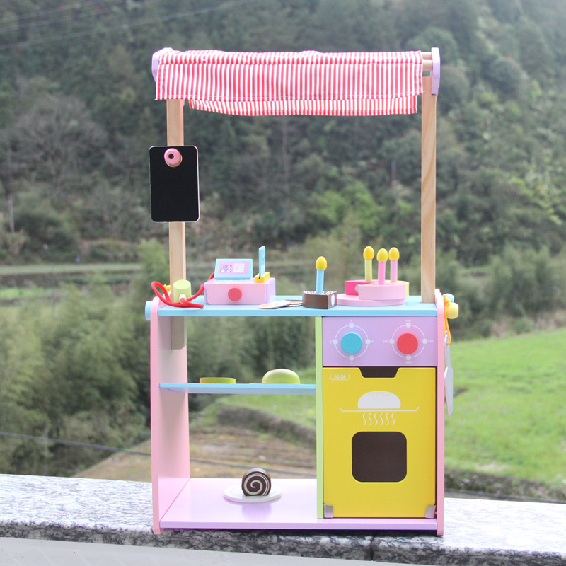 New Baby Toys Simulation Bakery Cake House Wooden Toys Food Cut Assemble Canteen Child Educational Birthday Gift kitchen simulation toys for children cake decorating wooden toys afternoon tea set birthday cake baby toysgift