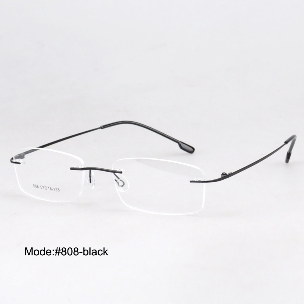e2c825ec23d MY DOLI 808 - 50PCS each lot Rimless memory titanium 9 color choose optical  frame eyeglasses spectacles eyewear