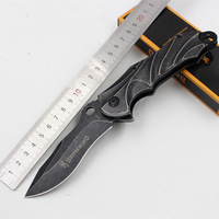Outdoor Stone Wash Black Stainless Steel 57HRC 7Cr17Mov Tactical Knife BROWNING B49 Folding Blade Camping Hunting