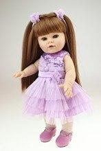 Muñeca reborn de 40 cm con vestido lila