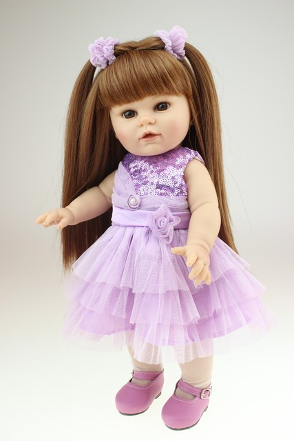American Girl Doll Toys 40cm Full Mixed Silicone Vinyl Baby Dolls