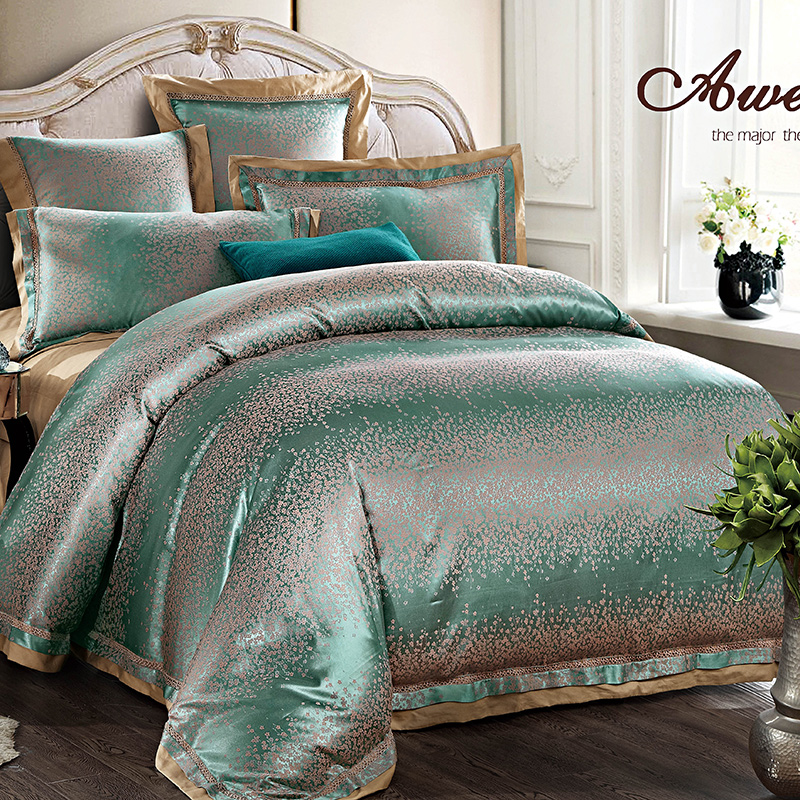 Svetanya Jacquard Duvet cover set Queen King Size Bedclothes Tencel and Cotton Fabric luxuries Bedding sets
