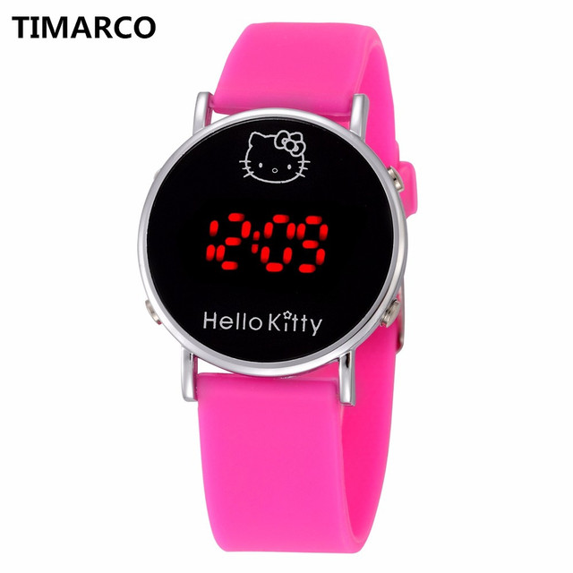 Brand Lovely Hello kitty Led Digital Children Watches Fashion Casual Sport Kids