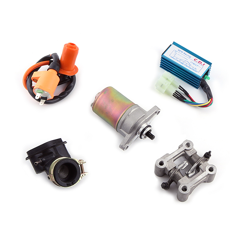 GY6 50 80 100 cc 137QMA QMB139 4T CYLINDER KIT Head DC Racing CDI Carburetor Pipe Electic Starter Arm 64mm Valve