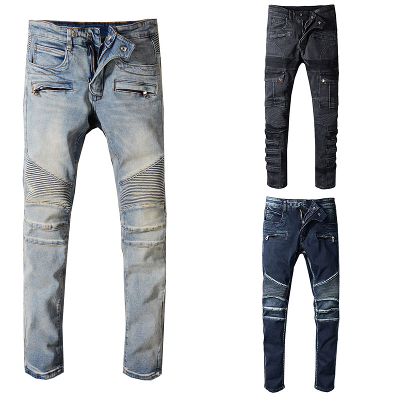 Italian Style Fashion Skinny Jeans Stretch Casual Pants New Designer Classical Jeans Men High Quality Men Jeans