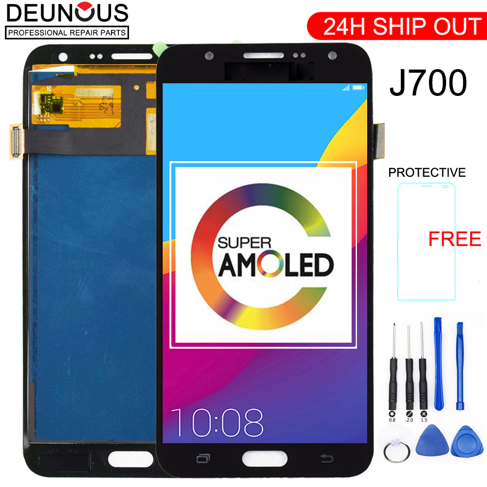 New For Samsung Galaxy J7 2015 J700 J700F J700H J700M AMOLED LCD Display Touch Screen Digitizer Assembly Phone LCDsNew For Samsung Galaxy J7 2015 J700 J700F J700H J700M AMOLED LCD Display Touch Screen Digitizer Assembly Phone LCDs