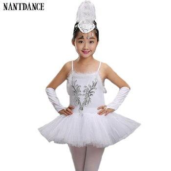 8aafcac5e89e4 Profesyonel Beyaz Kuğu Gölü Bale Tutu Kostüm Kızlar Çocuk Balerin Elbise  Çocuklar Bale Elbise Giyim Dans Elbise Kız