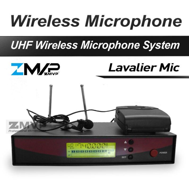 Free Shipping! 122 G2 Professional UHF Wireless Microphone Wireless System With BodyPack Transmitter Lapel Lavalier Clip Mic freeboss ku 22h2 uhf wireless microphone system dj karaoke 2 lapel 2 headset microphone 2 bodypack transmitter