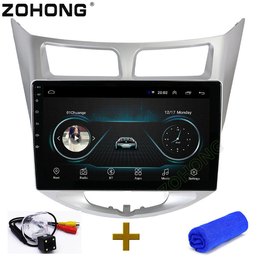 10 2inch 2 5D Android 8 1 Car DVD Multimedia video Player For Hyundai Solaris Accent