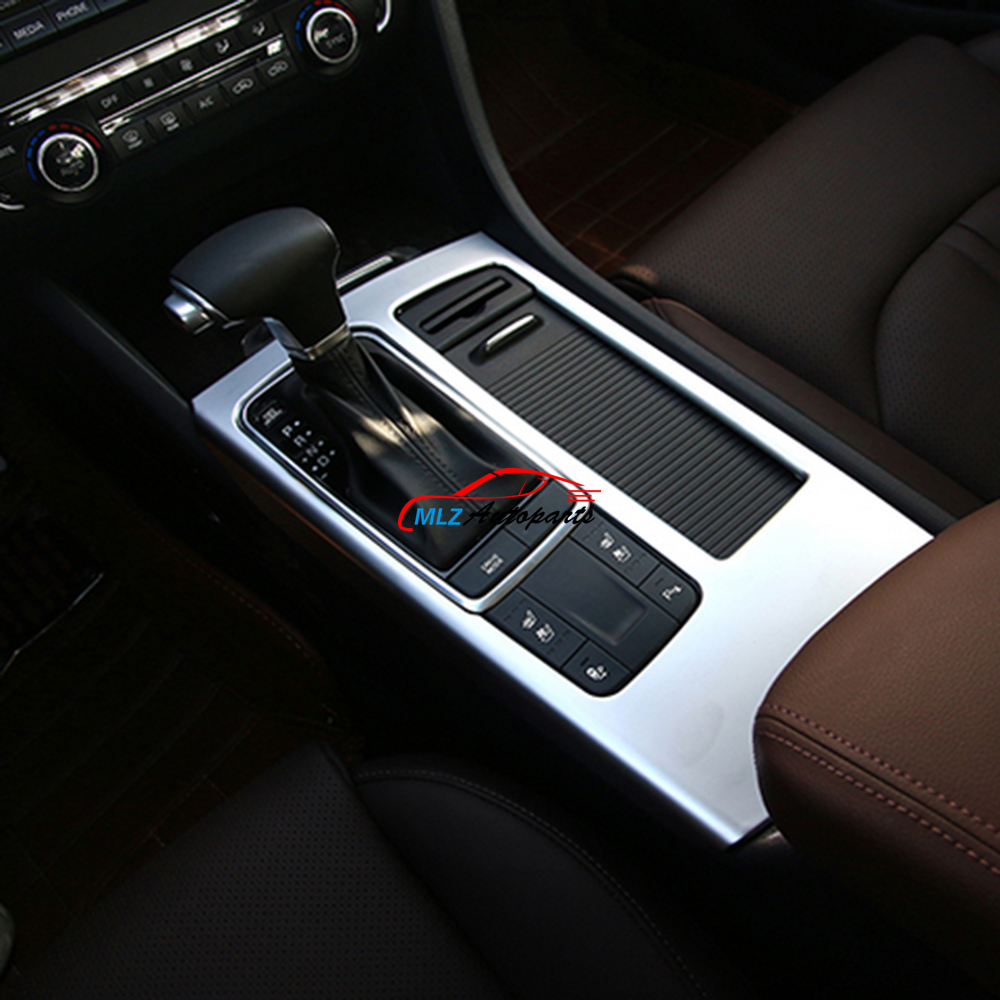 Car Styling Gear Shifter Panel Cover Sticker Trim Frame Molding ABS Chrome For Kia K5 Optima 2016 2017