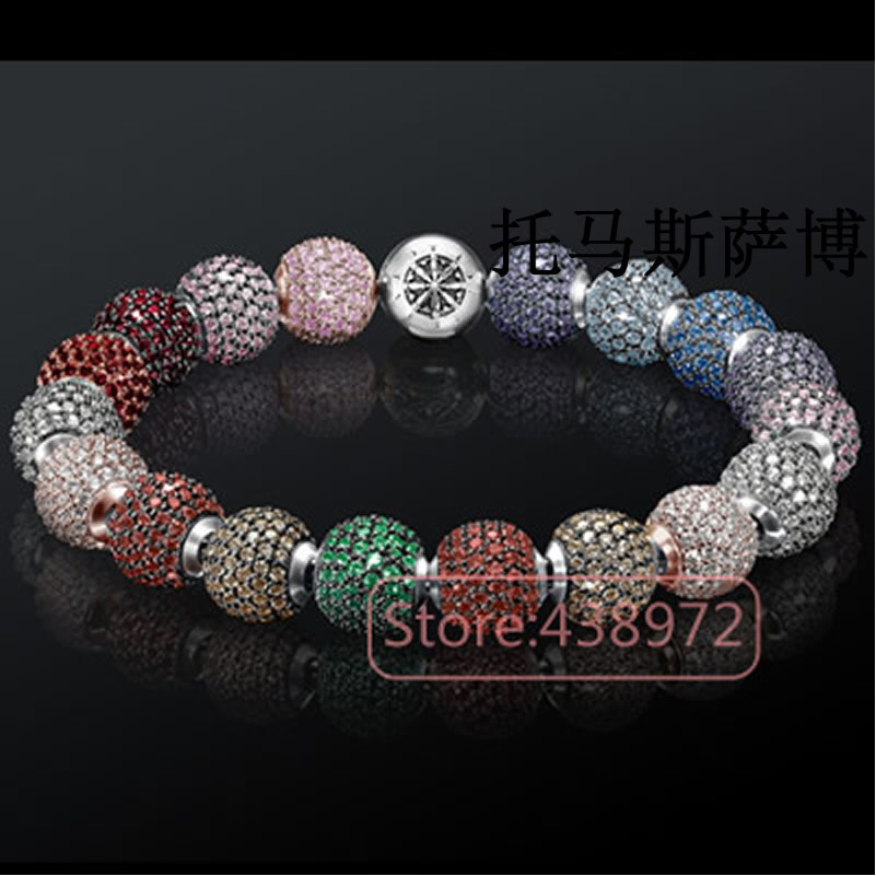 2017 fashion western European style silver plated beads Bead CZ Crystal zirconia Karma Beads Collection - LOVIW 925 Store store