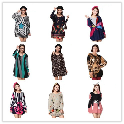 30 rəng və ölçülü qadınlar 2017 yeni bahar moda Hoodies & - Qadın geyimi - Fotoqrafiya 1