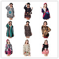 70 diseños más mujeres del tamaño 2016 nueva primavera moda camisas y sudaderas suéter ocasional grande 3XL 4XL 5xl suelta de algodón