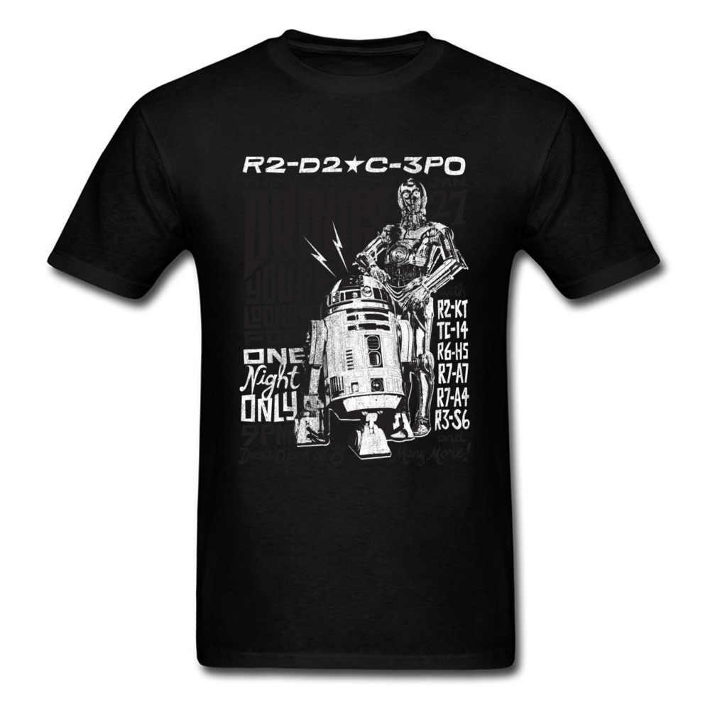 Дроиды в концерте Смешные Звездные войны футболка 2018 свободная серая футболка для мужчин s буквы футболки хип хоп группа уличная