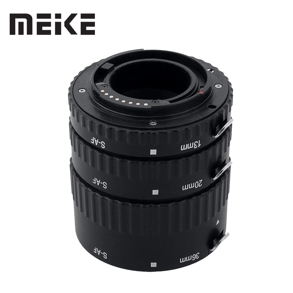 Meike S-AF-B Auto Focus AF Macro Extension Tube Ring Adapter for Sony Alpha A7 A77 A200 A300 A330 A350 A500 A550 A850 A900 цены