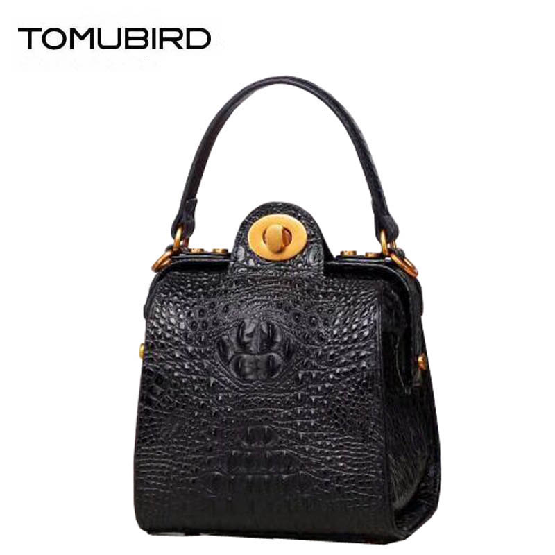 2018 New superior cowhide women genuine Leather bags women Leather bag Crocodile pattern small bags handbags women famous brands fashion style women crocodile pattern doctor women backpack famous bags women s pu leather rucksack bag z762