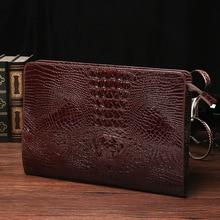 цена на Fashion Crocodile Wallet Men 2019 Leather Long Purse Male Wallets Men's Clutch Bags Coin Purse Cards Holder Clutches portemonnee