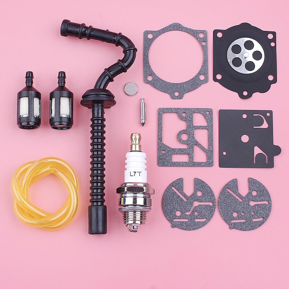 Fuel Filter Line Hose For Stihl 015 015AV 015L Spark Plug Carburetor Repair Diaphragm Kit Chainsaw Replace Spare Part