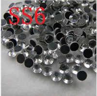 ¡Gran promoción! Comprar 5 obtener 6 bolsas de imitación DMC SS6 tamaño 1440 unids/bolsa blanco claro de Color de cristal caliente DIY arreglar piedras