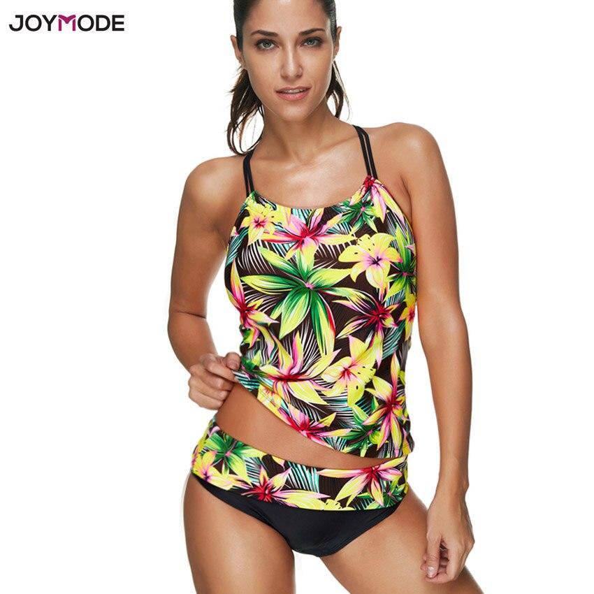 ac3bdbe105b0b JOYMODE Quality Women Floral Swimwear Sexy Push Up Tankini Set Shorts  Maillot De Bain Bathing Suit Plus Size Two Piece Swimsuit