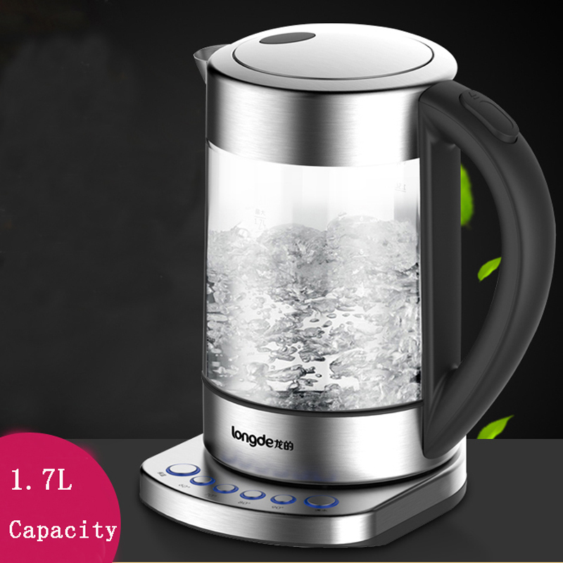 220V Automatic power supply of kettle Glass electric kettle LD-K1035 1.7L