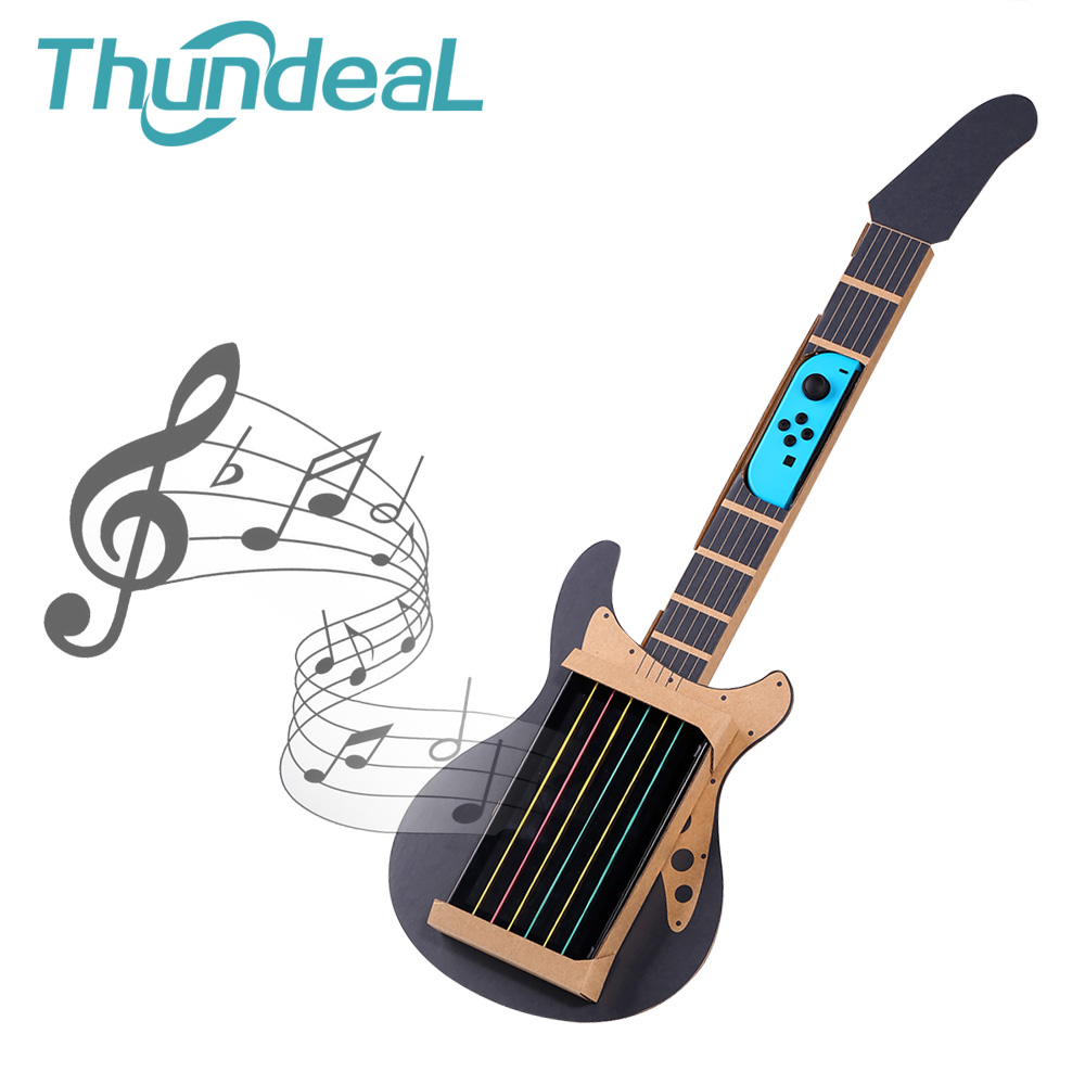ThundeaL Gardboard DIY Guitar For Nintend Switch Labo Joy-con Guitar Variety Guitar Music Kit For Toy-con Garage Play