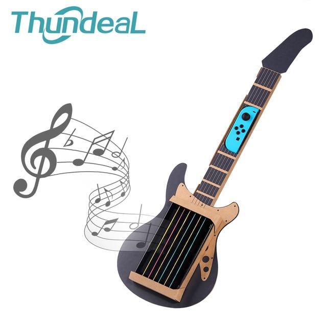 ThundeaL Gardboard DIY guitarra para Nintendo Switch Labo Joy con, variedad de guitarras, Kit de música para jugar en el garaje con juguetes