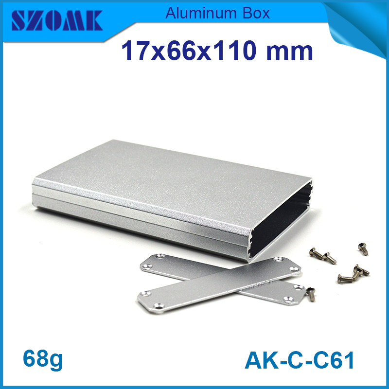 4 pieces extruded aluminum enclosures project case housing 12.2x63mm electronic aluminium box купить