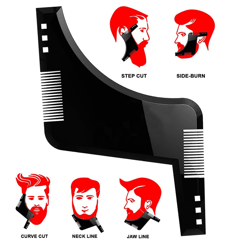 Beard Shaping Styling Tool Template Beard Hair Brush Hair Beard Comb Trimmer Template Stencil Men Shaver Styling Tools