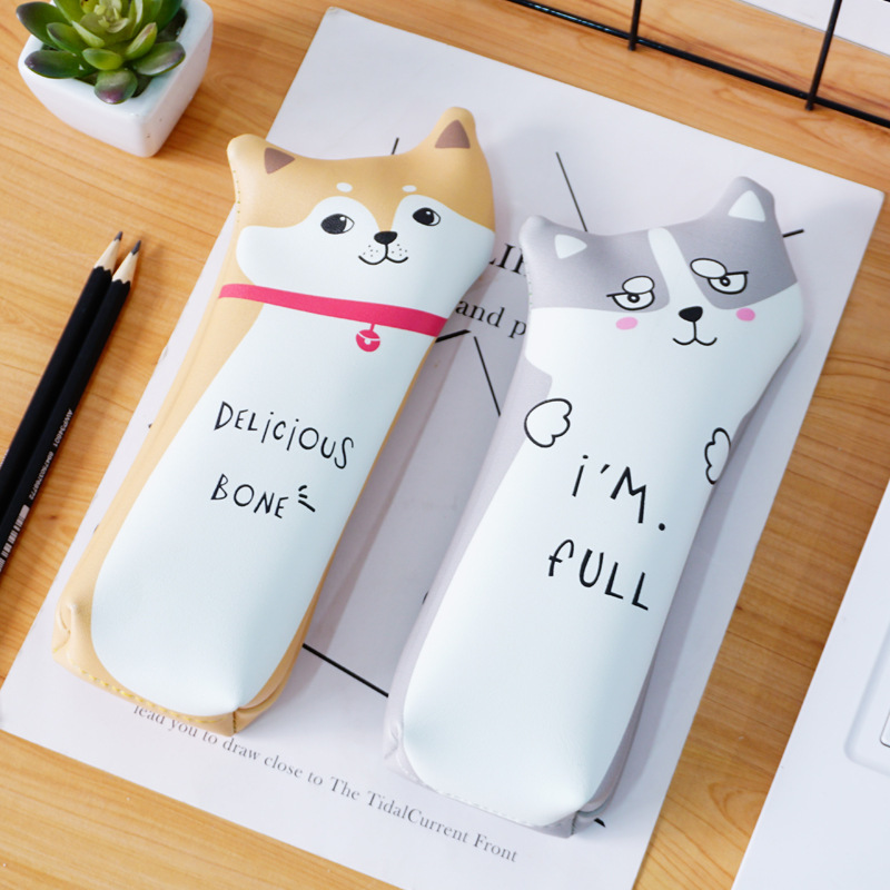 Hello Amazing Dog Pencil Case Stationery Storage Organizer Bag School Office Supply Escolar